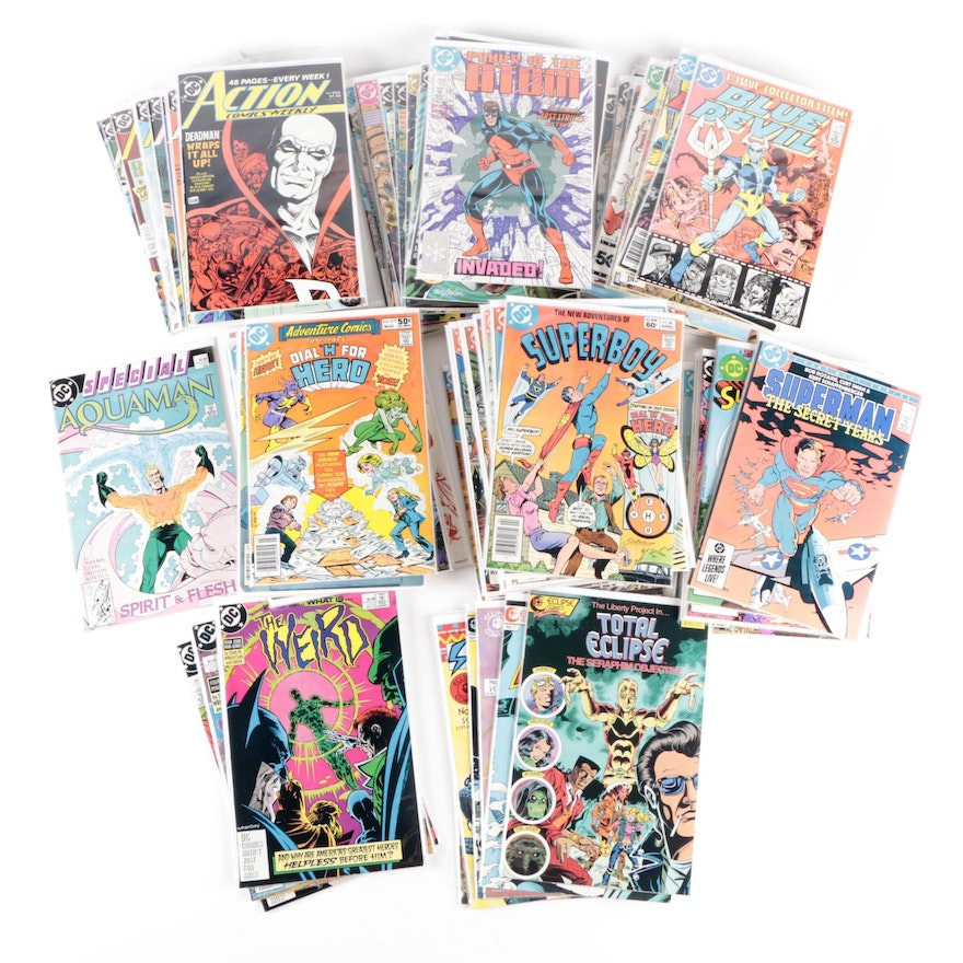 """Bronze and Modern Age DC Comics Including """"Action Comics"""" and """"Superman"""""""