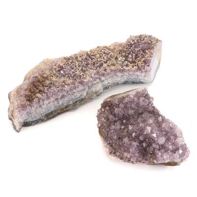 Raw Amethyst Geode Clusters