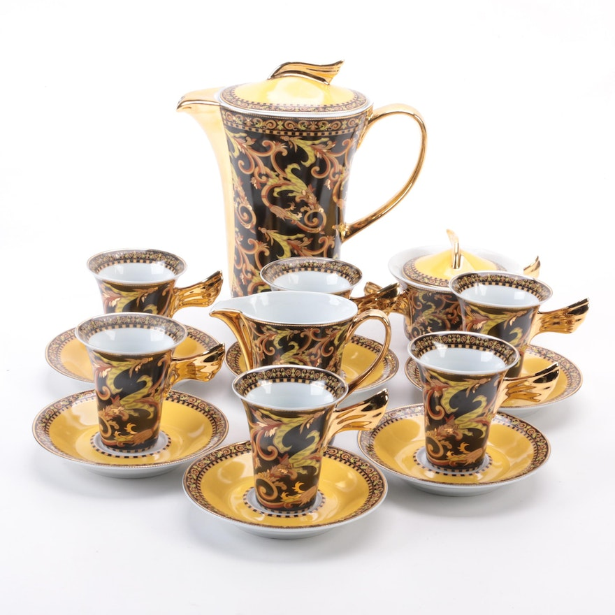 """Rosenthal for Versace """"Barocco"""" Porcelain Coffee Set"""