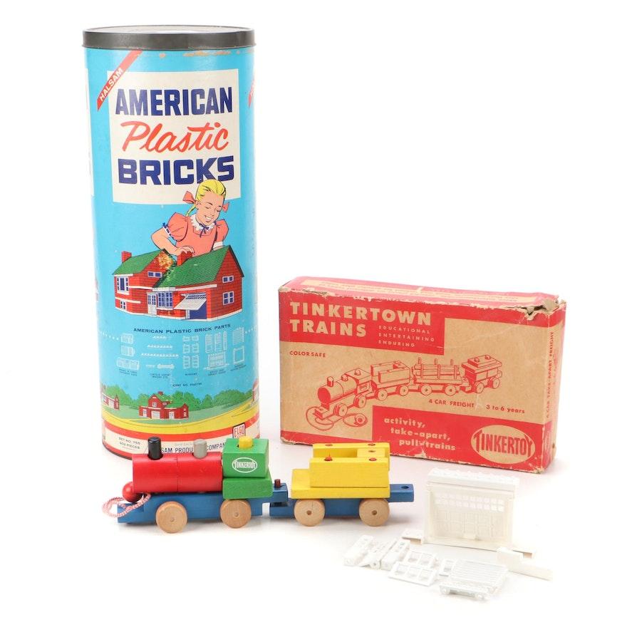 American Plastic Bricks, Tinkertown Trains Construction Toys