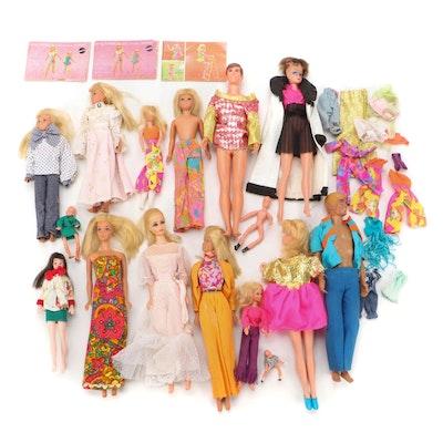 Mattel Barbie Dolls Including Ken and Other Dolls, 1960s