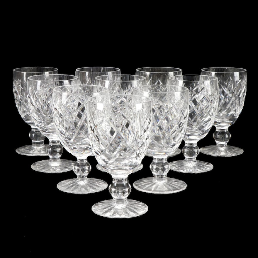 """Waterford """"Donegal"""" Crystal Wine Glasses"""