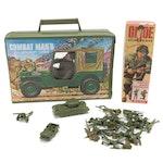 "Hasbro G.I. Joe Doll, 1964, with ""Combat Man's Equipment Case"", Accessories"