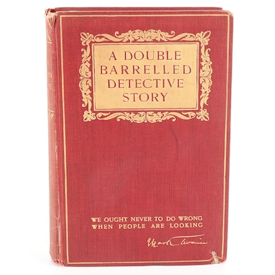 """First Edition """"A Double Barrelled Detective Story"""" by Mark Twain, 1902"""
