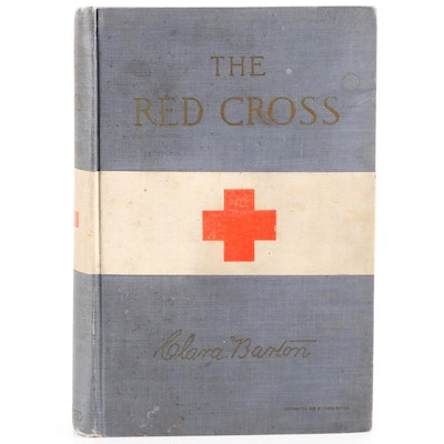 """First Edition """"The Red Cross"""" by Clara Barton, 1898"""