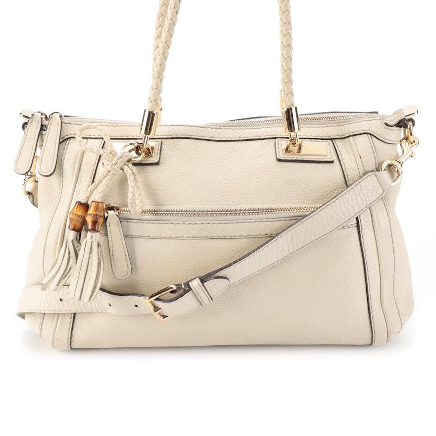 Gucci Bella Pebbled Calfskin Two-Way Bag