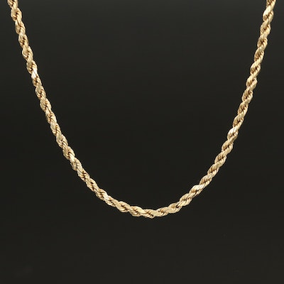 14K Braided Chain Necklace
