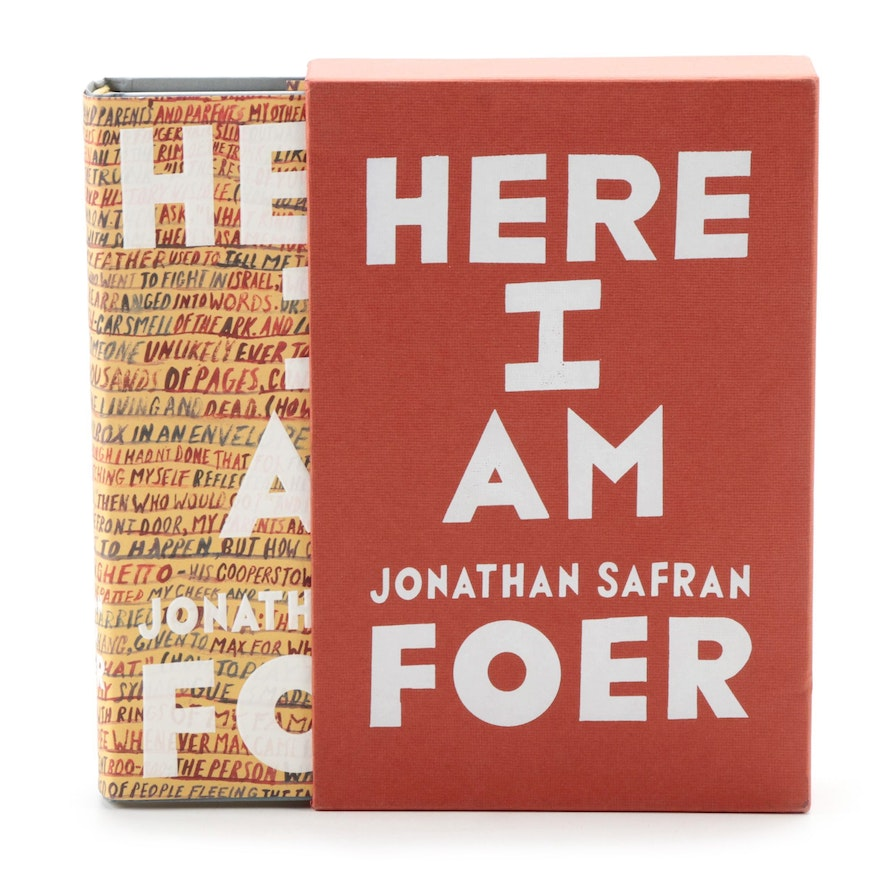 """Signed First Edition """"Here I Am"""" by Jonathan Safran Foer, 2016"""