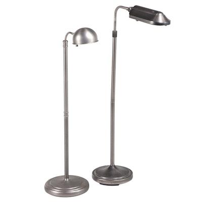"""Verilux """"Heritage"""" Adjustable Height Floor Lamp with Other Metal Floor Lamp"""