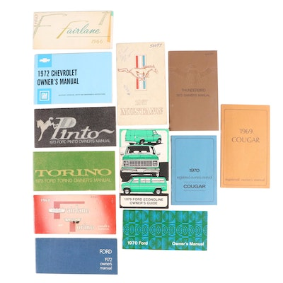 Ford Pinto, Cougar, Mustang, Torino and Econoline Owners Manuals