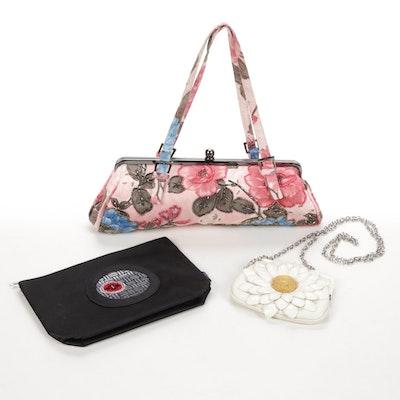 "Brighton ""Dottie"" White Daisy Crossbody Bag With Other Handbags"