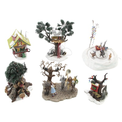 """Department 56 """"Wizard of Oz"""", """"North Pole Woods"""" and Other Porcelain Figurines"""