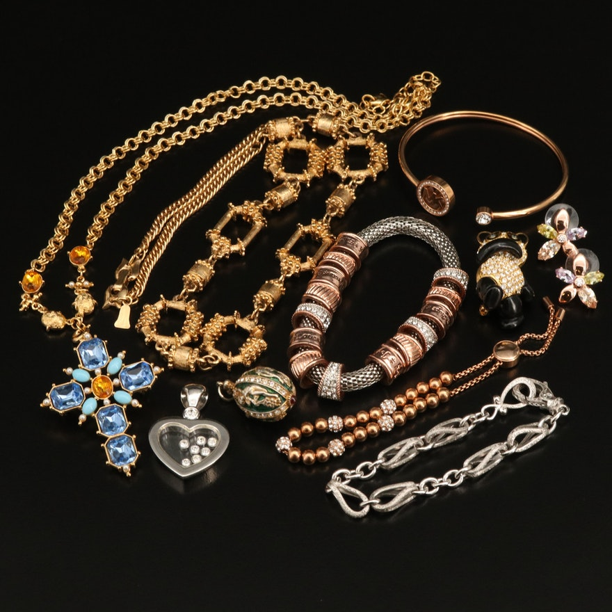 Necklaces, Bracelets, Pendants and Brooches Featuring Sterling Tacori Bracelet