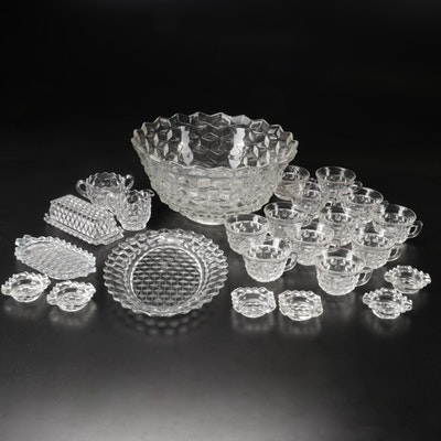 """Fostoria """"American"""" Glass Serve and Table Wares"""