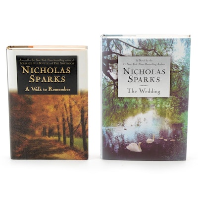"""Signed First Printings """"A Walk to Remember"""" and """"The Wedding"""" by Nicholas Sparks"""