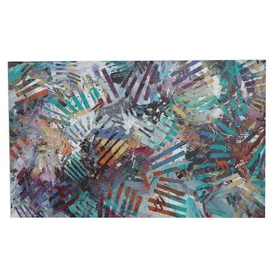 Steve Dalton Large-Scale Mixed Media Painting, 1991