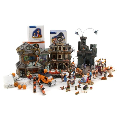 "Department 56 ""Halloween"", ""Snow Village"" and Other Village Figurines"