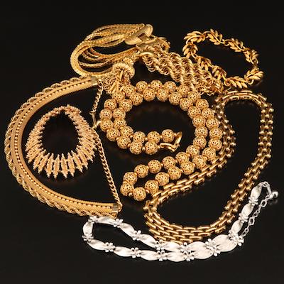 Vintage Necklaces and Bracelets Featuring Napier