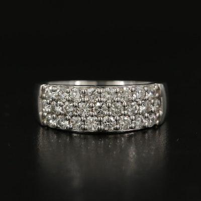 18K 1.06 CTW Diamond Triple Row Ring
