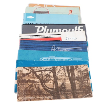 DeSoto, Plymouth, Chrysler, Dodge and Chevrolet Owner Manuals