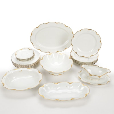 """Haviland and Co. Limoges """"Silver Anniversary"""" Serveware"""