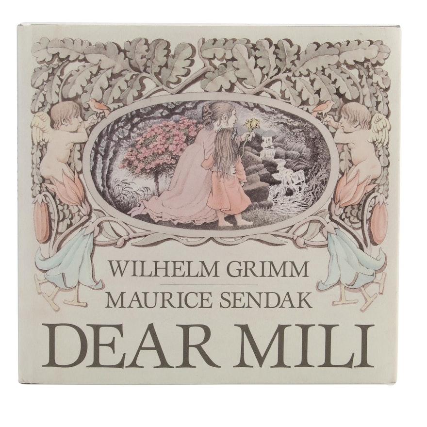"Maurice Sendak Signed First Edition ""Dear Mili"" by Wilhelm Grimm, 1988"