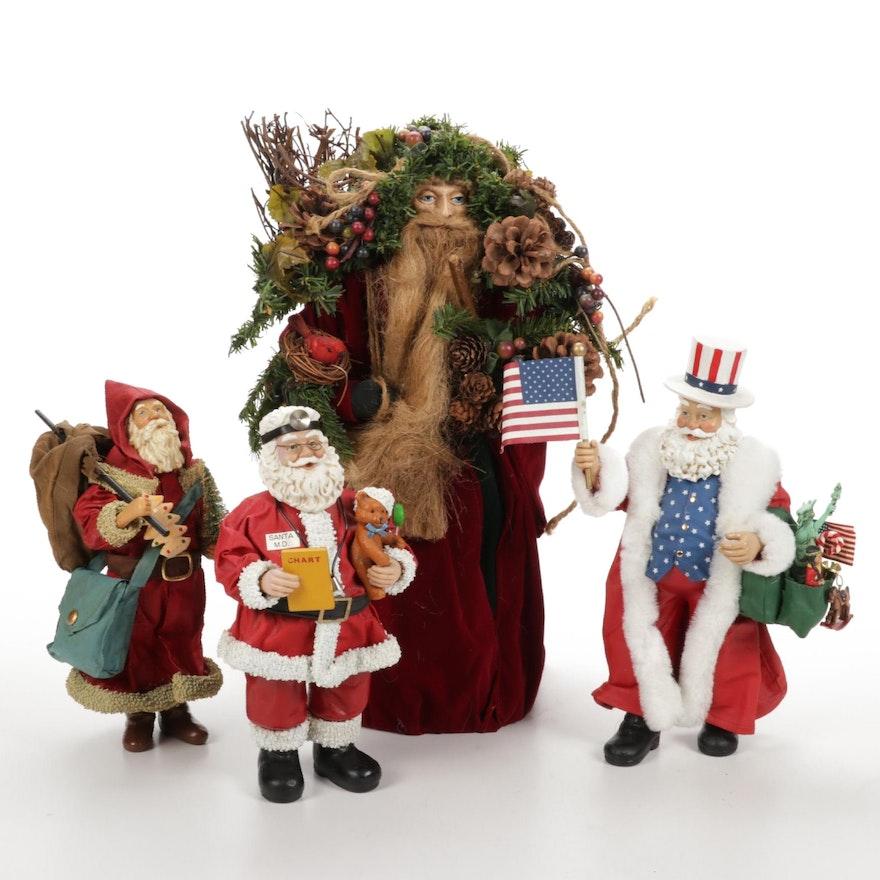Kurt S. Adler and Other Santa Figurines