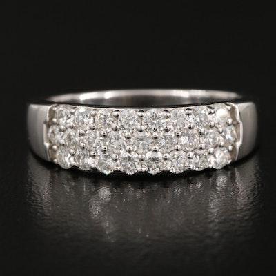 18K 1.06 CTW Diamond Triple-Row Ring