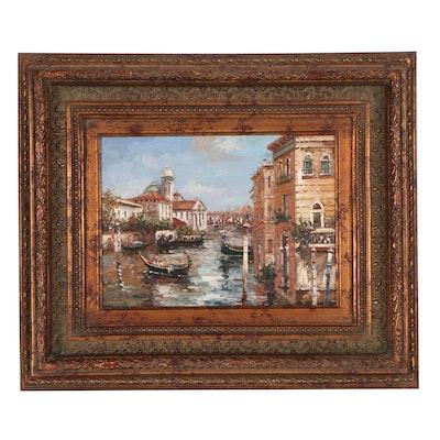 Venetian Cityscape Oil Painting, 21st Century