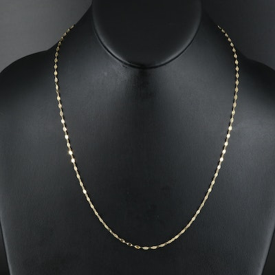 14K Flat Cable Chain Necklace