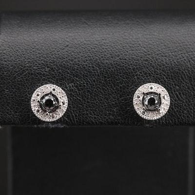 Sterling 0.33 CTW Diamond Stud Earrings