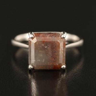 Platinum 4.29 CT Diamond Solitaire Ring