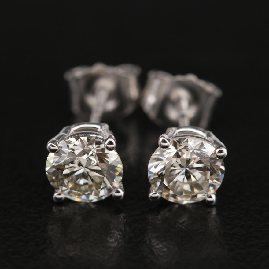 14K 1.24 CTW Diamond Stud Earrings