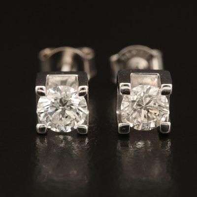 1.01 CTW Diamond Stud Earrings in 14K