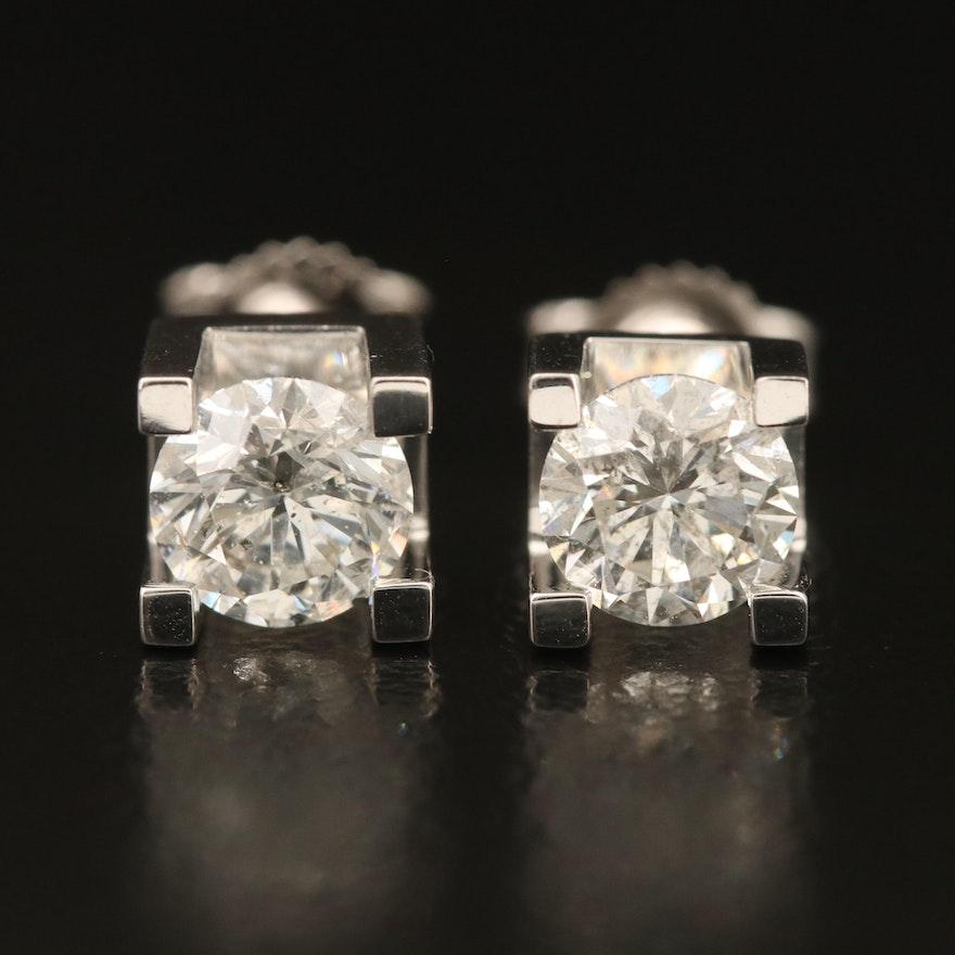 14K 1.08 CTW Diamond Stud Earrings