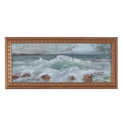 "Robert Riddle-Baker Acrylic Painting ""Restless Shore"""