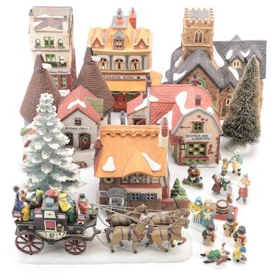 "Department 56 ""Dickens' Village"" Porcelain Buildings and Village Accessories"