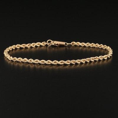 14K French Rope Chain Bracelet