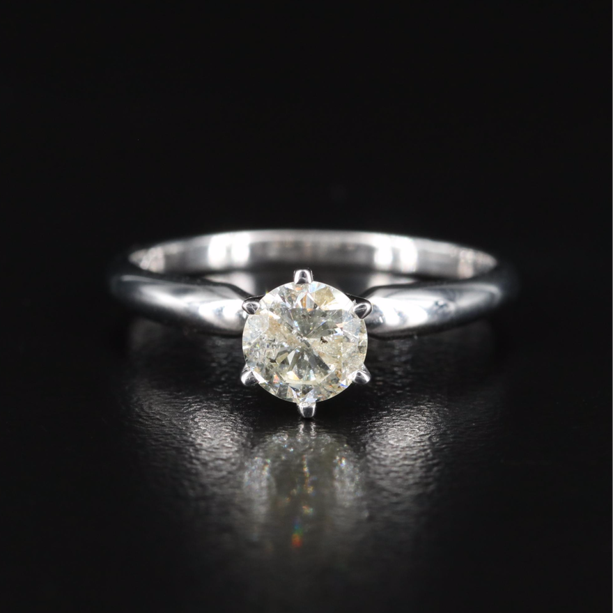 14K 0.74 CT Diamond Solitaire Ring