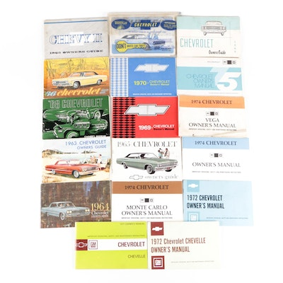 Chevrolet Owners Manuals, 1960–1975