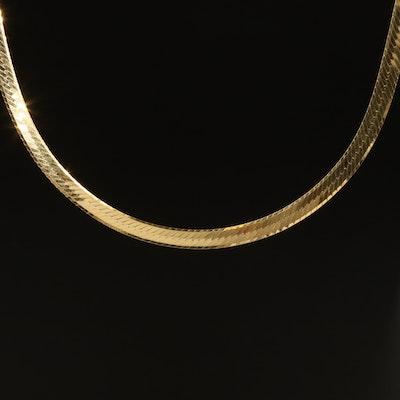 Italian 14K Herringbone Chain