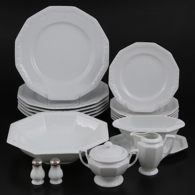 """Rosenthal """"Maria White"""" Porcelain Dinnerware and Table Accessories"""