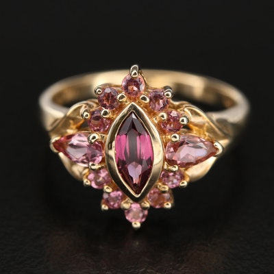 10K Garnet and Tourmaline Ring