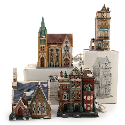 """Department 56 """"Christmas in the City"""" Heritage Village Collection Houses"""