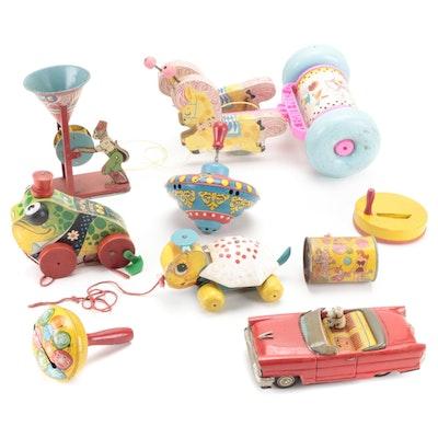 J. Chein, Ohio Art Co., Other Tin Litho Toys, Fisher-Price Pull Toys