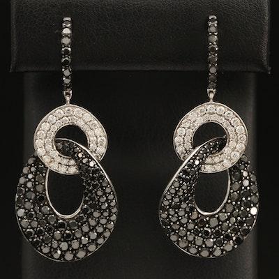 14K 7.26 CTW Pavé Diamond Earrings