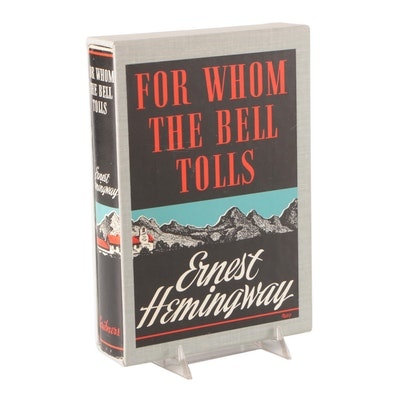 """Facsimile First Edition """"For Whom the Bell Tolls"""" by Ernest Hemingway, 1968"""