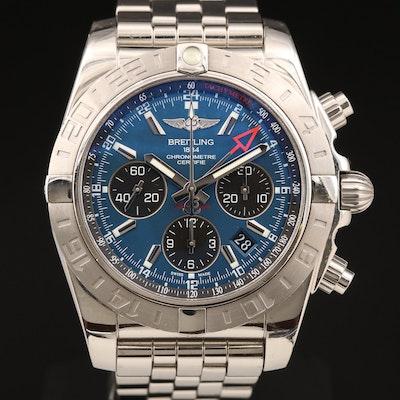Breitling Chronomat 44 GMT Stainless Steel Automatic Wristwatch