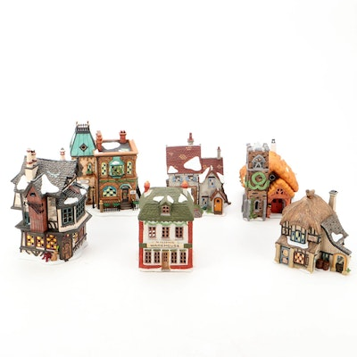 """Department 56 """"Dickens Village Series"""" and Other Light-Up Pubs and Shops"""