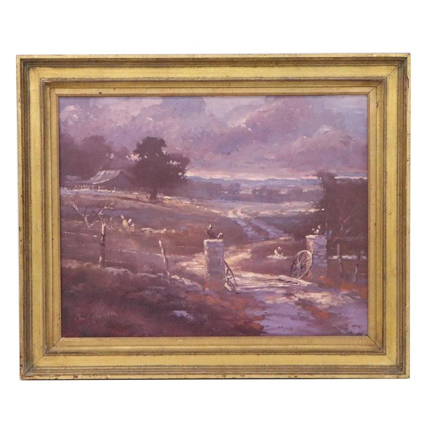 Paul Burkle Landscape Oil Painting